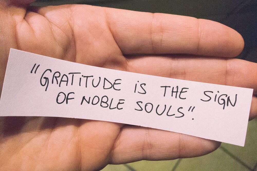 Gratitude for happy and confident