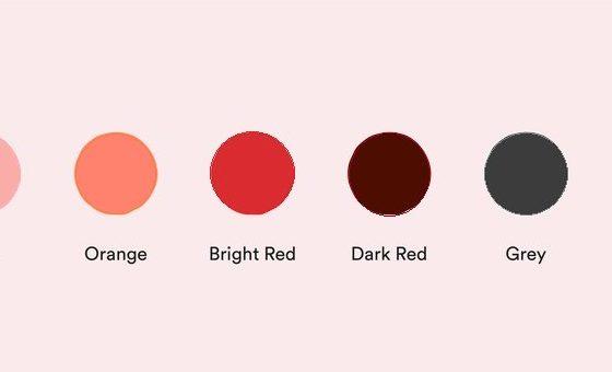 Period blood colour